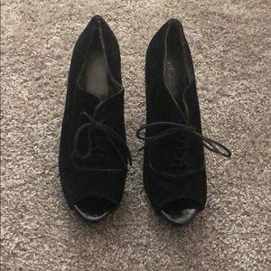 Loft tie up chunky heels